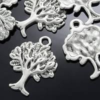 Кулон Дерево 22*17мм Античное Серебро