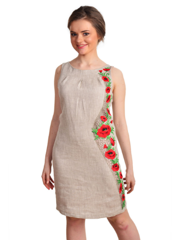 c04024e862f2a2 Сукня вишита білий льон