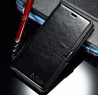 Кожаный чехол-книжка для Huawei P9 Lite черный