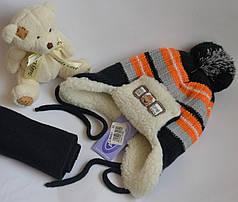 Польский зимний комплект шапка и шарф 2-4 года Proman