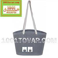 Пластиковая сумка Ucsan Plastik для пляжа, пикника, магазина, темно-серая