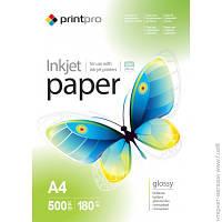 Бумага Printpro 180г/м², А4, 500л., глянцевая (PGE180500A4)