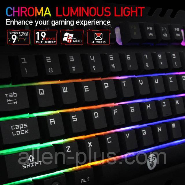 Клавіатура з LED підсвічуванням Fantech Zexter K610 Black (K610b), USB