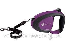 Ferplast Поводок-рулетка для собак зі шнуром FLIPPY TECH TAPE L PURPLE