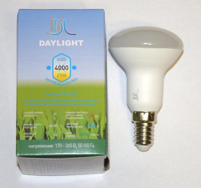 Светодиодная LED лампа Daylight R50 6W E14 2700К