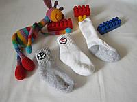 Носки  Hanes, упаковка 3 пары, оригинал (уценка) размер 12-14 см белые+серые 07205