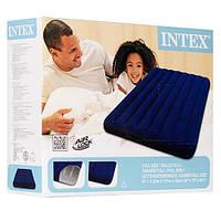 Матрас Intex надувной велюровый, 137х191х22 см, максимальная нагрузка до 130 кг