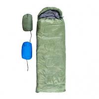 Спальный мешок одеяло с капюшоном (300г на м2, р-р 180+30х75см, от +5 до +15), фото 1