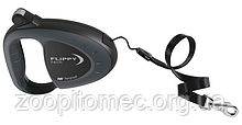 Ferplast Поводок-рулетка для собак зі шнуром FLIPPY TECH CORD L BLACK