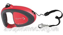 Ferplast Поводок-рулетка для собак зі шнуром FLIPPY TECH CORD L RED
