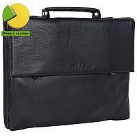 Деловой мужской портфель из высококачественной натуральной кожи черный High Touch HT005127-11