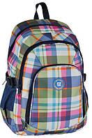 Повседневный молодежный рюкзак в клетку PASO 25L 16-1829C разноцветный
