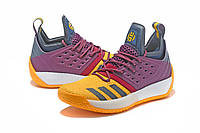 Мужские баскетбольные кроссовки Adidas James Harden Vol 2 (Burgundy/Yellow), фото 1