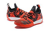 Мужские баскетбольные кроссовки Adidas James Harden Vol 2 (Orange red), фото 1