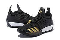 Мужские баскетбольные кроссовки Adidas James Harden Vol 2 (Black/Gold), фото 1