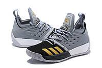 Мужские баскетбольные кроссовки Adidas James Harden Vol 2 (Grey/Gold), фото 1