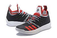 Мужские баскетбольные кроссовки Adidas James Harden Vol 2 (Black/Red/White), фото 1