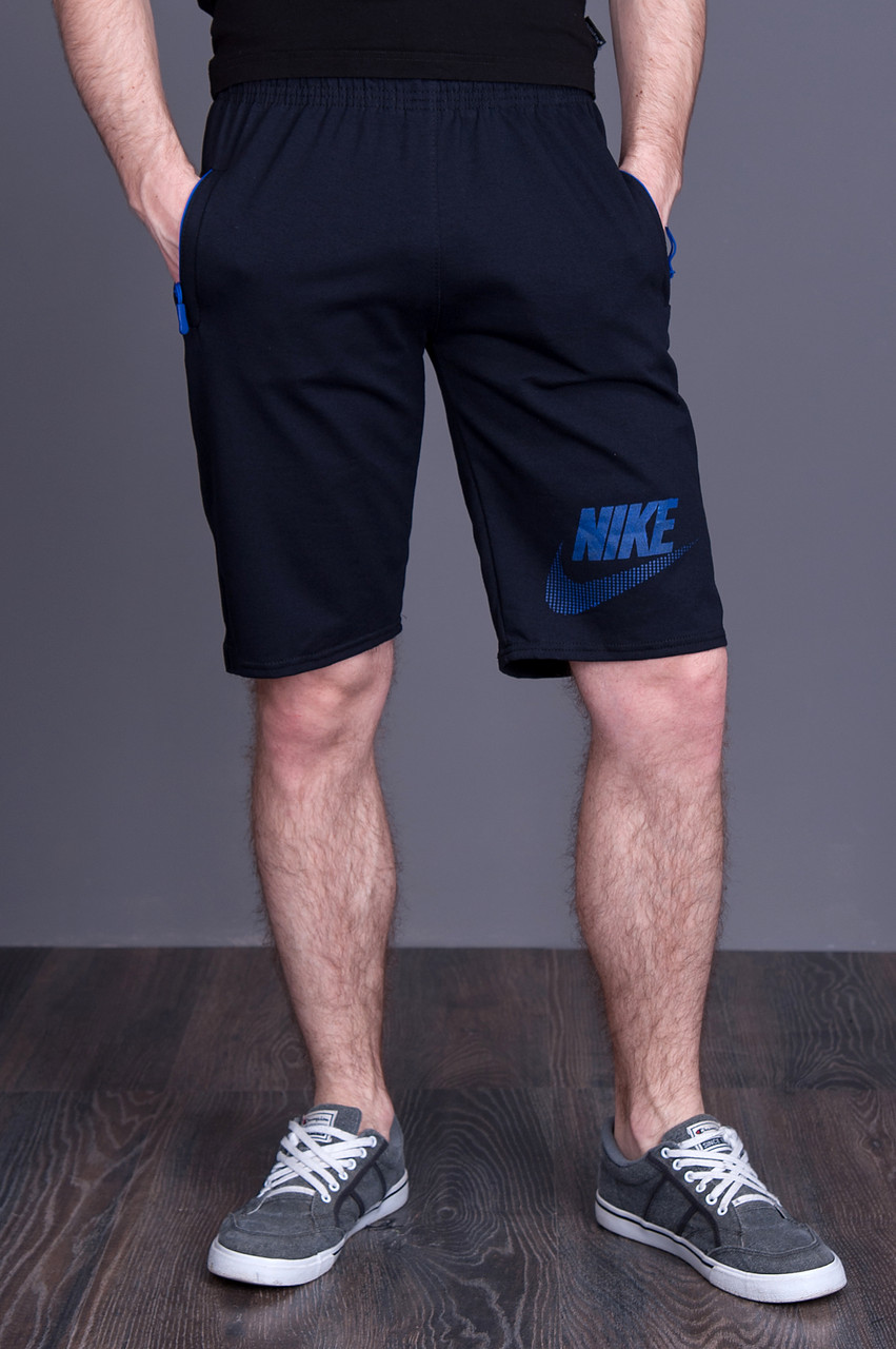 Чоловічі трикотажні шорти NIKE темно синього кольору