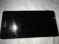 Дисплей с сенсором в рамке б.у. для Sony Xperia E3 D2202