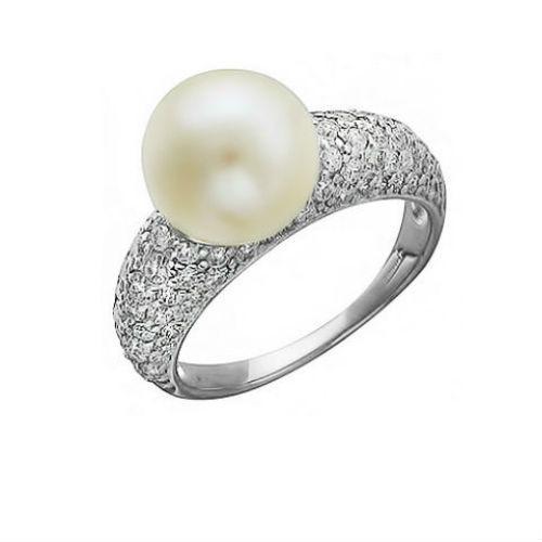 Серебряные кольца с жемчугом