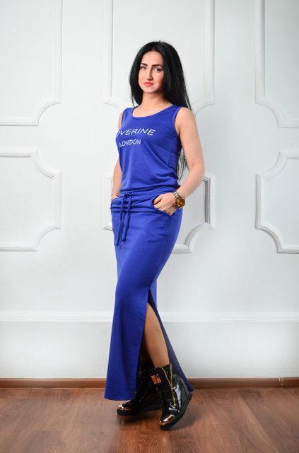 Длинное платье из двунитки (размеры 44-50)