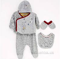 Комплект серый для новорожденных Caramell Modern Boy 50