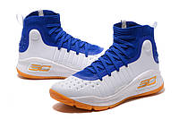МУЖСКИЕ КРОССОВКИ UNDER ARMOUR CURRY 4 (Blue/White/Yellow), фото 1