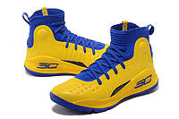 МУЖСКИЕ КРОССОВКИ UNDER ARMOUR CURRY 4 (Blue/Yellow), фото 1