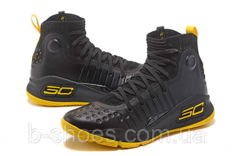 МУЖСКИЕ КРОССОВКИ UNDER ARMOUR CURRY 4 (Black/Yellow)