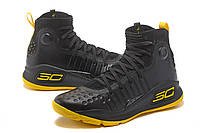 МУЖСКИЕ КРОССОВКИ UNDER ARMOUR CURRY 4 (Black/Yellow), фото 1