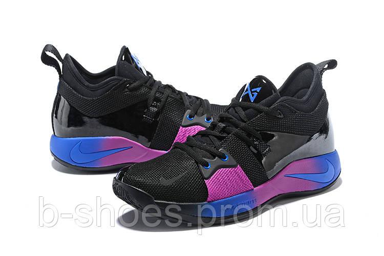 Мужские баскетбольные кроссовки Nike Zoom PG 2 (Black/Pink/Blue)