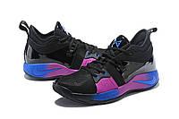 Мужские баскетбольные кроссовки Nike Zoom PG 2 (Black/Pink/Blue), фото 1