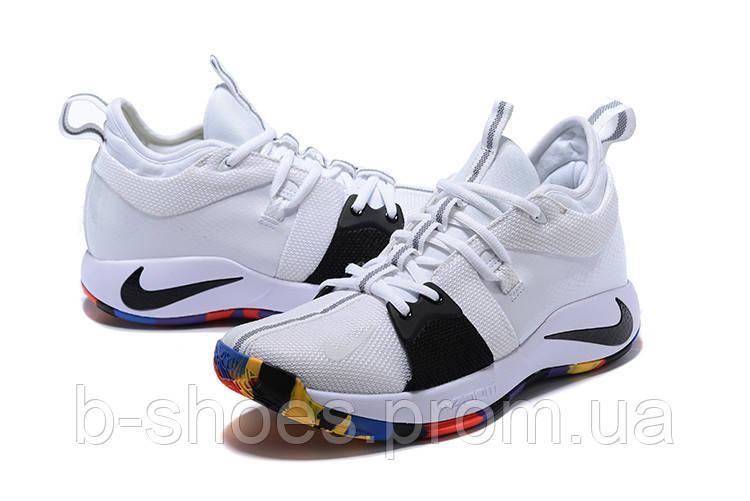 8187cd7a Мужские баскетбольные кроссовки Nike Zoom PG 2 (White/Black/Multicolor)