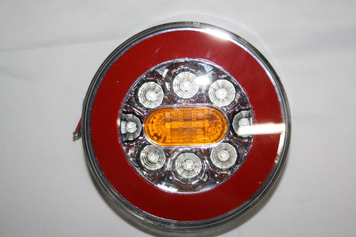 Задний диодный,круглый фонарь 4-х функциональный