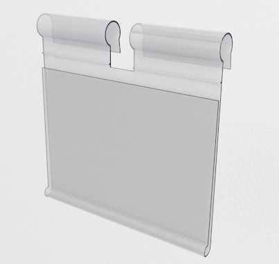 Ценникодержатели пластиковые откидные плоские 52/50мм на крючок, фото 2