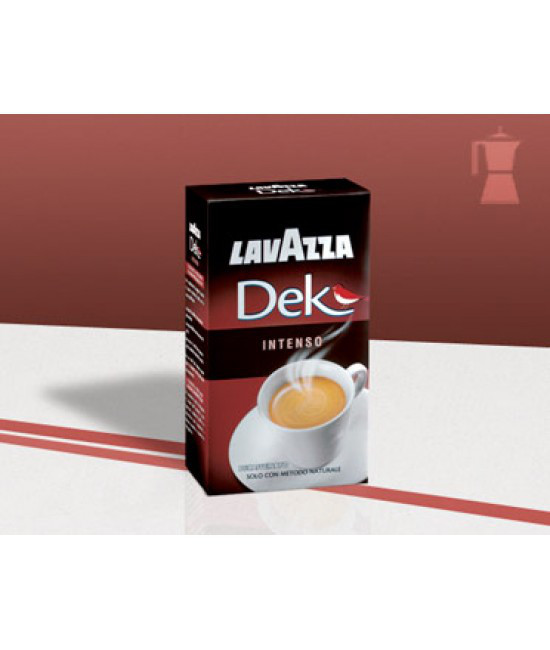 Кофе молотый без кофеина LAVAZZA DEK  INTENSO 250гр