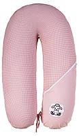 Подушка для кормления Ідея Стандарт (в сумке) розовый (белая точка)