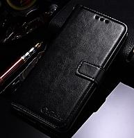 Кожаный чехол-книжка для Xiaomi Redmi 5 черный
