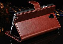 Кожаный чехол-книжка для Samsung Galaxy Note 3 Neo N7505 N7506 коричневый, фото 2