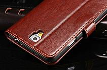 Кожаный чехол-книжка для Samsung Galaxy Note 3 Neo N7505 N7506 коричневый, фото 3