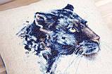 Набор для вышивки крестом Luca-S PB184 подушка Пантера, фото 2