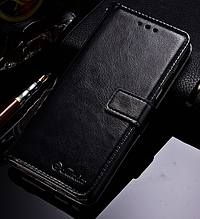 Кожаный чехол-книжка для Samsung Galaxy A8 2018 A530 черный