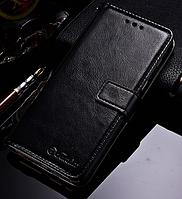 Кожаный чехол-книжка для Samsung galaxy A8 Plus 2018 A730 черный