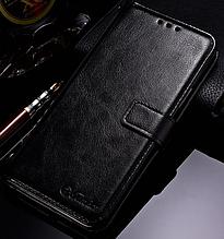 Кожаный чехол-книжка для Samsung Galaxy S9 Plus черный