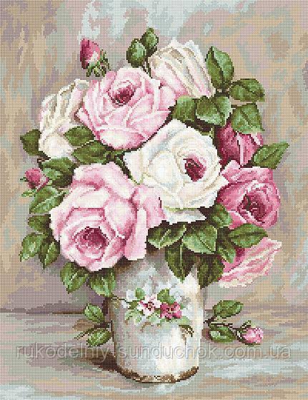 """Набор для вышивания крестом """"Luca-s"""" B574 Смешанные розы"""