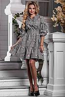 Красивое Пышное Платье в Клетку с Рюшами и Бантами S-XL, фото 1