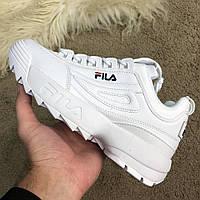 Кроссовки Фила женские белые ( артикул FS1HTZ3071X) копия 1:1