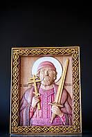 Деревянная резная икона Святой Князь Игорь