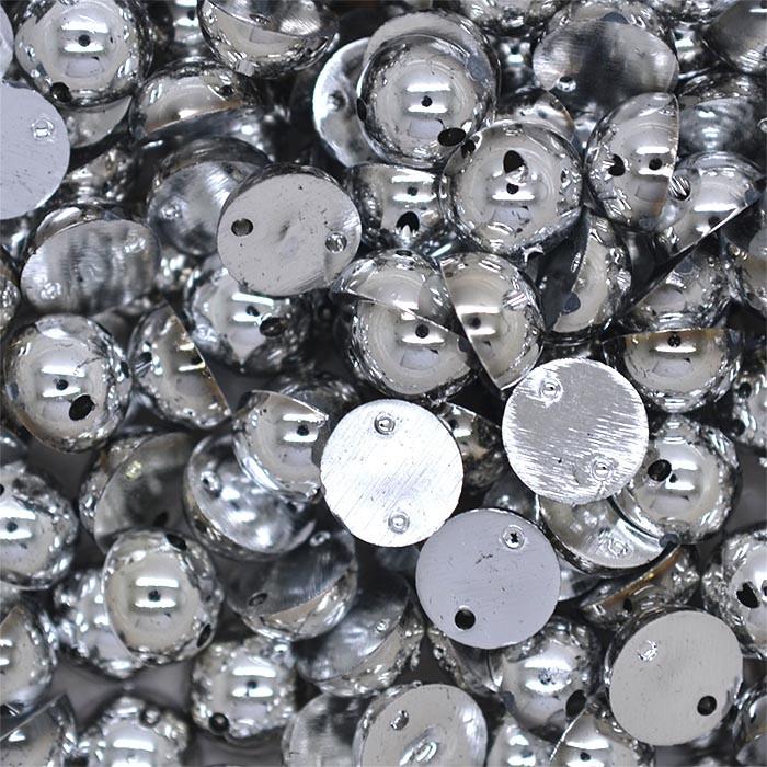 Полубусины пришивные 8мм, 200шт. (серебро)