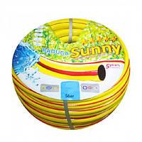 Шланг для полива Желтая Радуга 50 м. 3/4х18 мм, Evci Plastik, фото 1